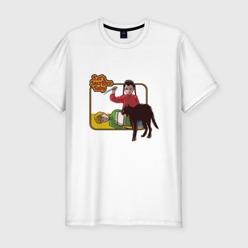 Мужская футболка хлопок Slim Жертвоприношение прикол