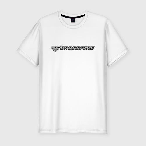 Мужская футболка хлопок Slim Кросс Фаер
