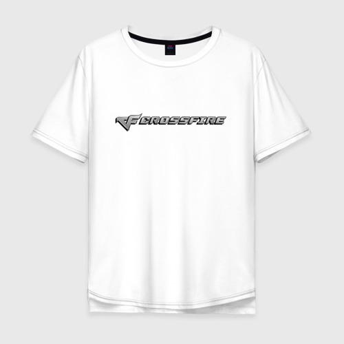 Мужская футболка хлопок Oversize Кросс Фаер