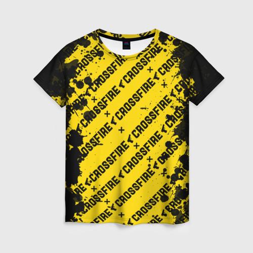 Женская футболка 3D Cross fire