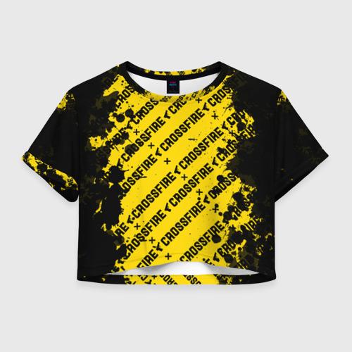 Женская футболка Crop-top 3D Cross fire