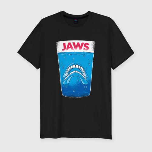 Мужская футболка хлопок Slim Jaws Челюсти - Прикол